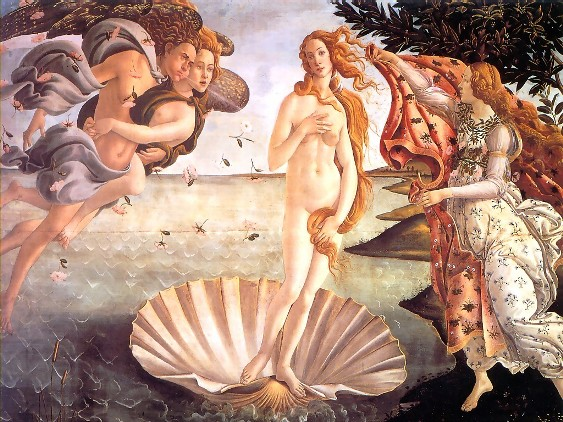 birth of venus, boticelli
