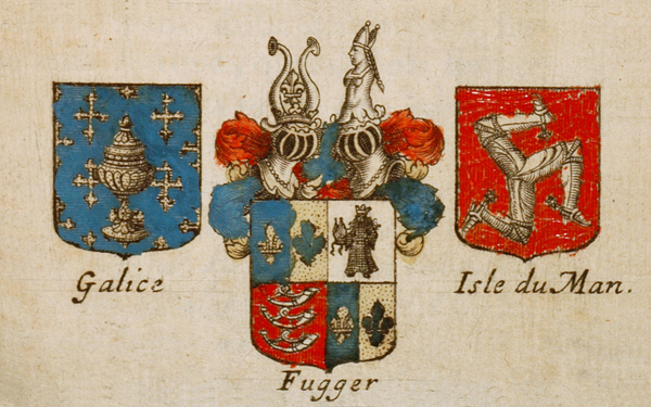 """Some blasons I discovered. I think """"Fugger"""" could be our family crest."""